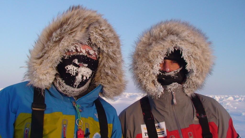 Doug and Michael on the Ice