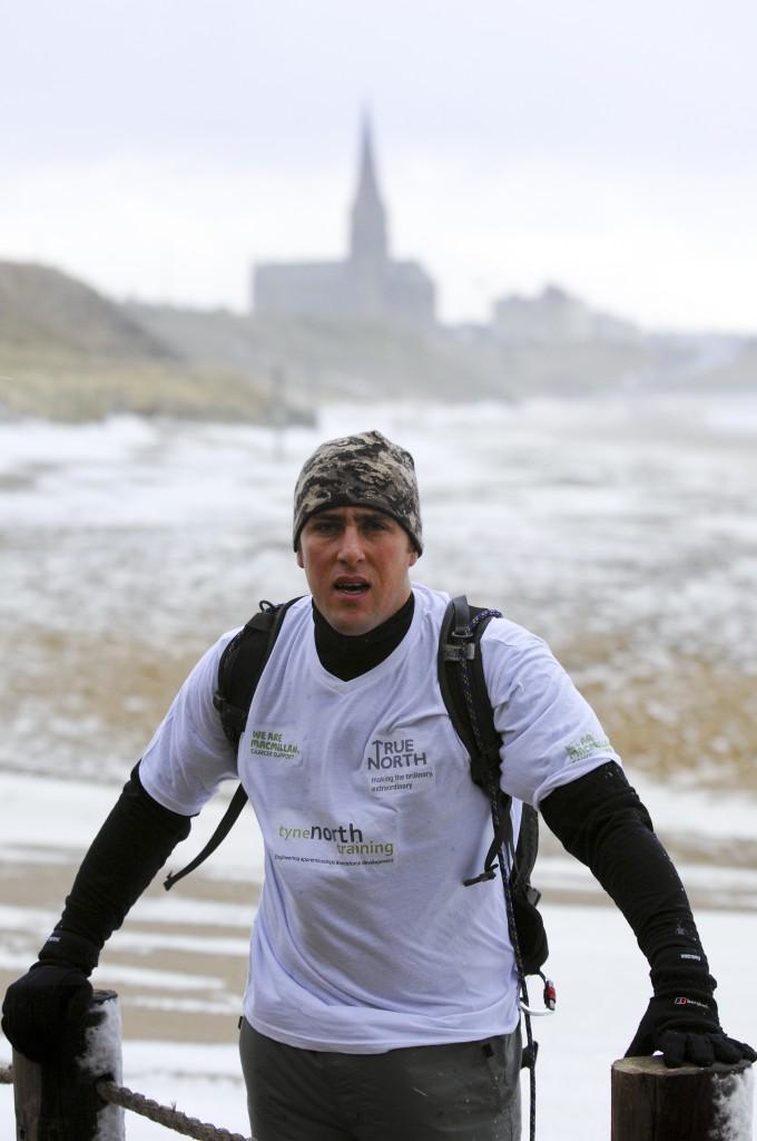 Michael Mitten Training on Tynemouth Beach. Photo by Simon Greener.