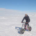First to Ice Bike long distance in Antarctica