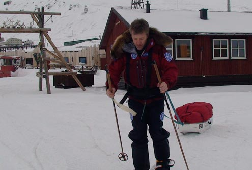 Doug training in Longyearbyen