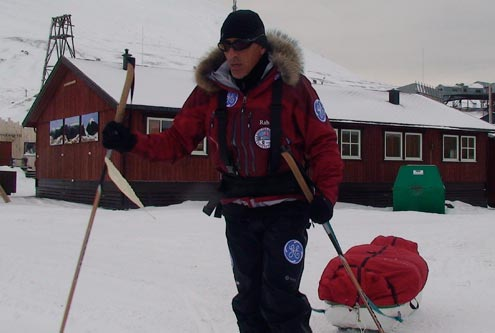 Dennis training in Longyearbyen