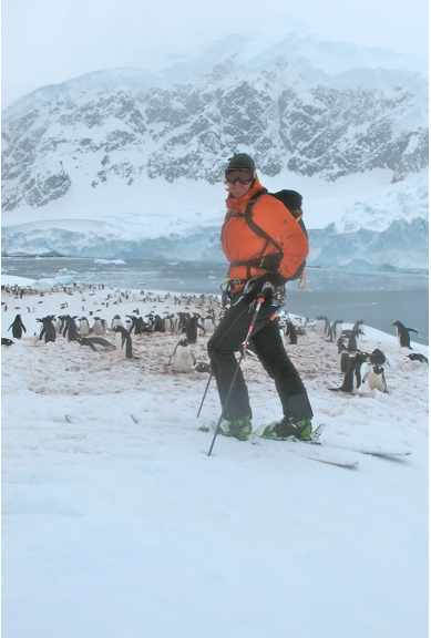 Doug with Gentoo Penguins - Antarctic Peninsula 2010