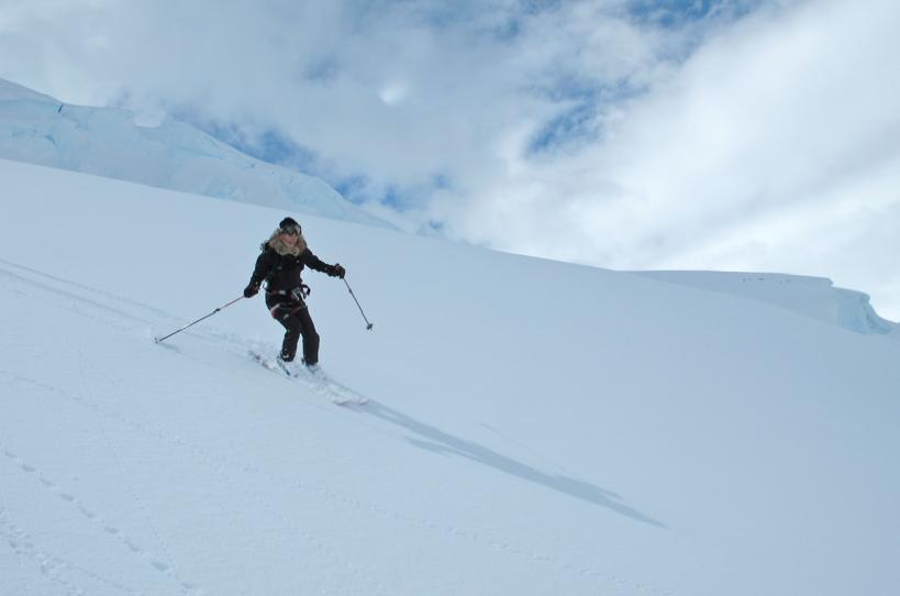 Rissa Skiing Emma Island - Ice Axe Antarctica Australis 2010