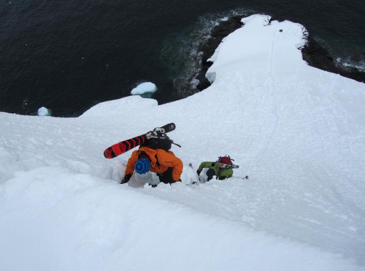 Climbing Directissima - Ice Axe Antarctica Australis 2010