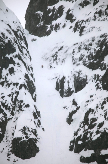 50+ degree couloir called Sable Pinnicales - Ice Axe 2010